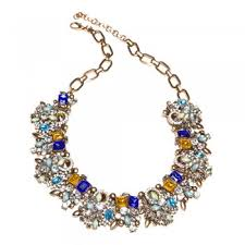 coloured statement necklace images Statement necklace multi coloured jewel encrusted modesty lounge jpg