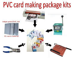 id card machine kits package simple tools for id card