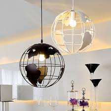 modern black light fixtures modern earth model creative pendant light dia 30cm black white iron