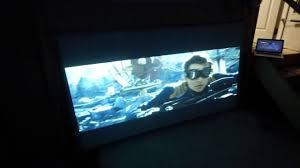 backyard ultra wide acoustic projector screen flexible 4k youtube