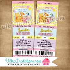 winnie the pooh baby shower invitations the pooh baby shower ticket invitations