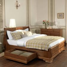 Solid Wood Sleigh Bed Amazing Wooden Sleigh Bed With Solid Wood Beds Handmade To Remodel