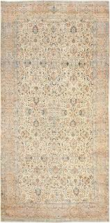 Oversize Area Rugs Antique Ivory Background Persian Kerman Rug 47527