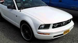 Mustang Black Rims White