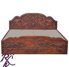 Buy Wooden Bed Online India Buy Carving Bed Online In India Rajhandicraft Furniture