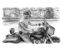 harley davidson art from a photo on sale