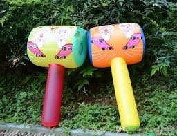 big plastic balloons large hammer air flushing big hammer activity props
