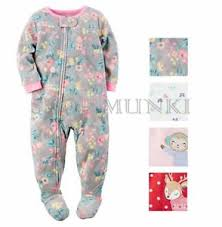 carters 1 footed sleeper zip up fleece pajama ebay