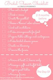 Bridal Shower Ideas by Best 25 Bridal Shower Checklist Ideas On Pinterest Hens Night