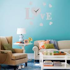 livingroom deco modern art diy 3d wall mirror sticker clock home family bedroom