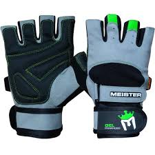 meister wrist wrap weight lifting gloves w gel padding workout