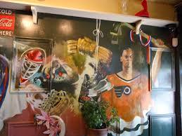 hockey murals home decorating inspiration paul gosen artworks philedelphia flyers hockey wall mural pizza jerrys union station petes st catharines on