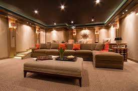 Sofa Movie Theater by Movie Home Decor Home Theater Contemporary With Cove Lighting Long