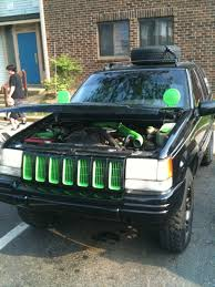 green jeep cherokee black and green jeep registry