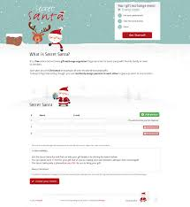 secret santa one page website award