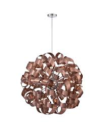 copper ribbon quoizel rbn2831 ribbons 31 inch wide 12 light large pendant