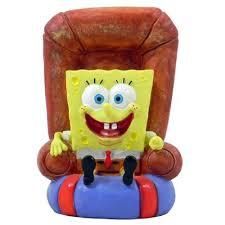 spongebob squarepants in a chair aquarium ornament aquar ornaments
