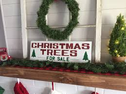 distressed christmas trees for sale sign fixer upper