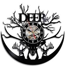 theme clock beautiful deer theme vinyl clock gear stop shop