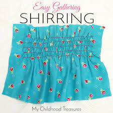 shirring elastic sewing with elastic thread how to sew shirring treasurie