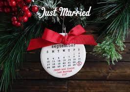 personalized christmas ornaments wedding just married ornament wedding ornament personalized