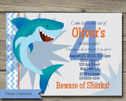 5th birthday party invitation shark bite birthday party invitation printable shark birthday