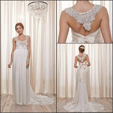 2014 anna campbell bow empire wedding dress new design amity gown
