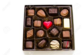 assorted gourmet chocolate in a box stock photo picture and