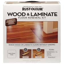 Laminate Floor Sticky After Cleaning Rust Oleum 264869 Wood And Laminate Floor Renewal Kit Household