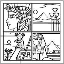 Trellis Art Egyptian Line Drawing 4 Trellis Vector Graphic Clipart Me