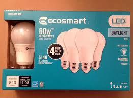 ecosmart 60w equivalent daylight a19 dimmable led light bulb ebay