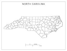 north carolina blank map