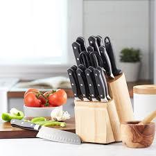 amazon com amazonbasics premium 18 piece knife block set kitchen amazon com amazonbasics premium 18 piece knife block set kitchen dining