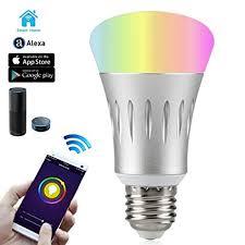 alexa light bulbs no hub wi fi smart led light bulb dimmable 60w equivalent 7w smartphone