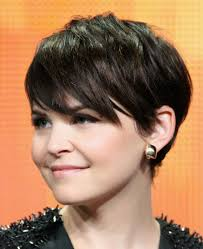a gallery of short brown hair from pixies to shags short dark