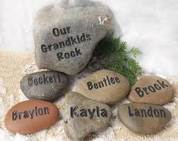 personalized stones etsy