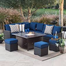 Sectional Patio Furniture Sets Wicker Patio Furniture With Blue Cushions Patio Furniture