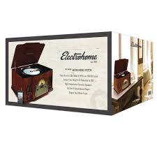real wood electrohome wellington record player retro vinyl turntable real