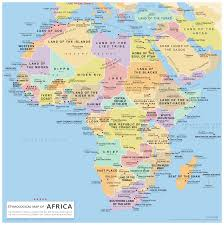 Interactive Map Of Africa by Etymological Map Of Africa Vivid Maps