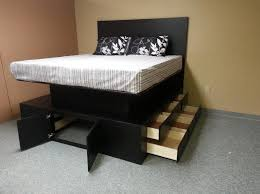 Raised Bed Frame Raised Bed Frame With Drawers Interesting Ideas For Home