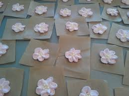 making iced flowers for the birthday cake