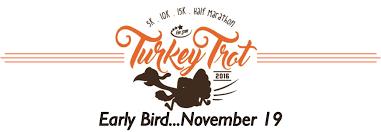 five thanksgiving turkey trot 5k 10k 15k half marathon