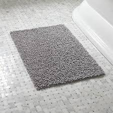 loop rugs loop light grey bath rug crate and barrel