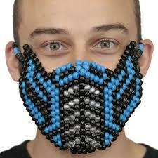 kandi mask blue sub zero kandi mask v2 mortal kombat masks the best from