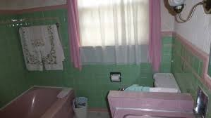 White And Green Bathroom - green and pink vintage bathroom