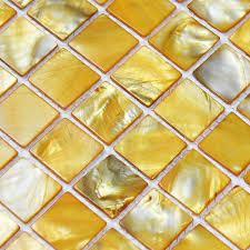 backsplash for yellow kitchen shell tiles 100 yellow seashell mosaic of pearl tiles
