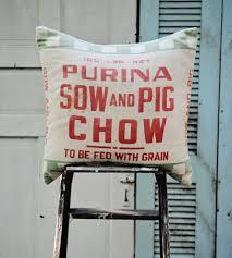 Pig Decor For Home by Purina Sow U0026 Pig Chow Feedsack Pillow Home Decor U0026 Lighting