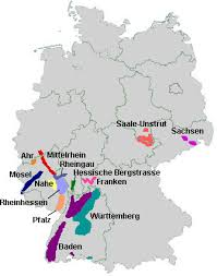 map of regions of germany german food guide directory