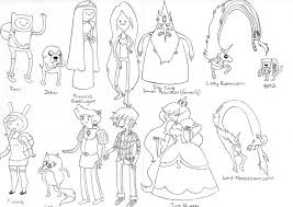 adventure time characters by scottpilgrim1996 on deviantart
