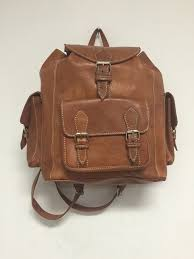 Rugged Leather Backpack Handmade Genuine Leather Backpack Rugged Rustic Travel Bag In